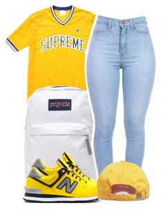 A fashion look from June 2015 featuring bralette tops, blue jeans and JanSport. Browse and shop related looks. Dope Fashion, Urban Fashion, Teen Fashion, Fashion Outfits, Cute Swag Outfits, Dope Outfits, Casual Outfits, Weekend Wear, Polyvore Outfits
