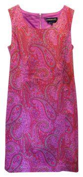 Jones New York Pink With Floral Pattern 10413459-l86 Dress $66