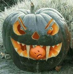 Scary Pumpkin #Halloween #Pumpkin
