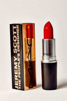 Jeremy Scott: The People's Designer, Jeremy Scott will release his first-ever beauty exclusive: a lipstick made in partnership with M.A.C Cosmetics. Available only in a special M.A.C red, the color comes enclosed in a Scott-designed tube.