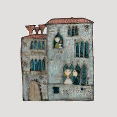 Venetian Palace by Rut Bryk Gaudi, Tile Projects, House Tiles, Italian Art, Ceramic Artists, Clay Art, Pottery Art, Art Lessons, Home Art