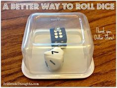 3rd Grade Thoughts: Dice Management