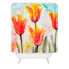 Ginette Fine Art Tulips Bells Of Spring Shower Curtain | DENY Designs Home Accessories