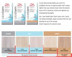 Here we are describing about the Wella toner chart. Wella toner chart uses an international level and tone system. Wella Toner Chart is use for Hair Toner. Wella toner chart use for describe different shades of Wella toner. Blonde Hair Care, Ash Blonde Hair, Platinum Blonde Hair, Blonde Hair Toner, Toner For Hair, Wella Toner Chart, Wella Hair Toner, Wella Hair Color Chart, Hair Beauty