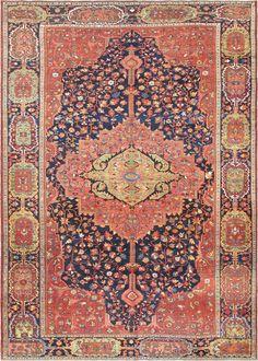 "Persian Sarouk Farahan rug, 9'2""X13'0"", 1890, Keivan Woven Arts Gallery"