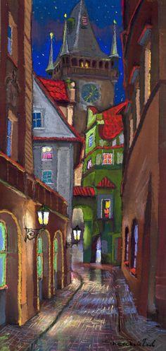 Prague Old Street 7 by Yuriy Shevchur