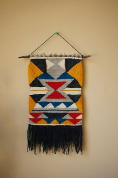 Hand Woven Wall Hanging  Sintra by threaddict on Etsy, $85.00