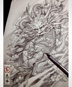 "870 Me gusta, 6 comentarios - Zhiyongma. 志永刺青. MA ART D.O.O (@zhiyong_tattoo) en Instagram: ""#kylin#drawing#Blackandgreytattoo#asiantattoo#europeantattoo#Asianink#chinesetattoo#japanesetattoo#maart#Slovenia#worldofpencils#sketch#illustration#irezumi#tattoolife#tattooartist"""