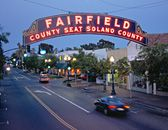 Fairfield, California was the town outside of Travis AFB. (lived here for 5 years after my husband got out in 1989.  I was a reserve SSgt crew chief (mechanic) on C-141s until 1992)  We were here for the big Loma Prieta earthquake.  We were getting ready to fly out that day, but ran late.  If we had been on time, we could easily have been on the Bay Bridge!  Thank God we were running late!