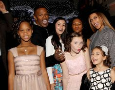 Beyonce and the cast of Annie