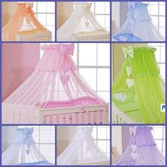 baby canopy | LUXURY BABY COT BED CANOPY DRAPE-BIG 485cm HEARTS / MOSQUITO NET ...