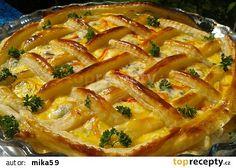 Slaný mřížkový koláč recept - TopRecepty.cz Thai Red Curry, Quiche, Macaroni And Cheese, Bacon, Pizza, Breakfast, Ethnic Recipes, Desserts, Food
