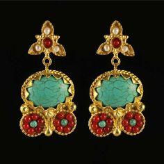 Athena Earrings Turquoise, 36€, now featured on Fab.