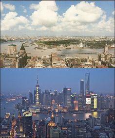 La boite verte, Shanghai, 1990 e 2010