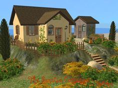tiny houses and cottages | totally love small cottages like this. Nice landscaping, cute house ...