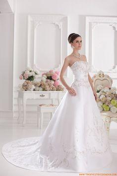 vestidos de noiva de saten con Bordado