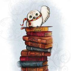 Imagen de harry potter, book, hedwig, gryffindor, hogwarts and owl Harry Potter Fan Art, Harry Potter World, Harry Potter Universal, Harry Potter Fandom, Harry Potter Drawings, Hedwig Harry Potter, Hogwarts, Desenhos Harry Potter, Harry Potter Wallpaper