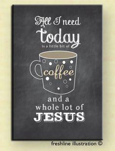 Prayer Journal, Jesus, Bible Journaling, Journal, Blank Journal, Custom Book, Coffee and Jesus