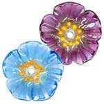 from SpecialtyBeads.com : Lampwork Flower beads