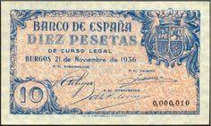 Spain - 1936. - GC - bilette - 10 p,