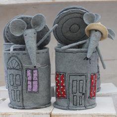 Tinned Mouse/O gal skardines kitas gyvenimas butu- dekoruoti ja veltiniu, siuviniais, zvyneliais, karoliukais....?