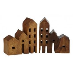 Mi Casa Wooden Book Ends