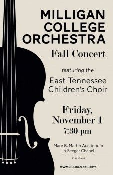 Orchestra Concert poster  http://www.milligan.edu/2013/10/18/milligan-orchestra-to-present-concert-featuring-mecca/