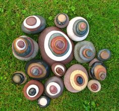 Pebble Grass by fab land art by Ian Rennie;  ir0ny, via Flickr
