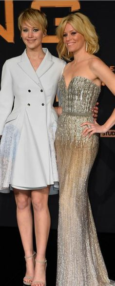 Jennifer Lawrence: Jennifer  Dress – Dior Shoes – Stuart Weitzman  Elizabeth's dress – Elie Saab