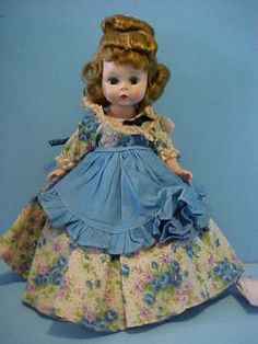 1955 SLW Alexander-Kins Little Women MEG in HTF Tagged Dress w/ Hangtag