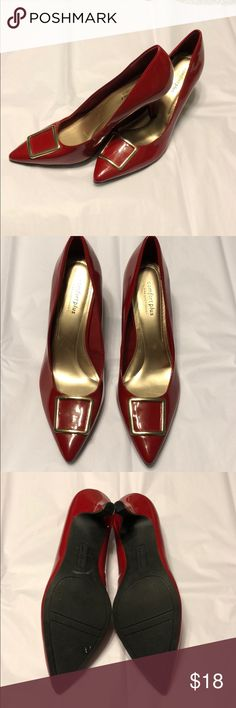 """Red Patent Heels Beautiful pair of red patent heels just in time for Valentine's Day. No signs of wear and are in EUC. Very pretty! Padded 3"""" heels. Comfort Plus by Predictions Shoes Heels"""