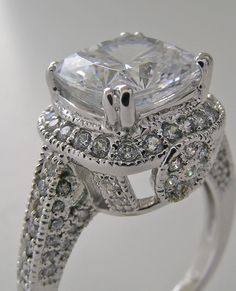 Antique Cushion Cut Engagement Rings | Engagement Ring Settings