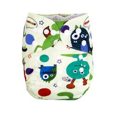 Baby Suede Lining Reusable Creepy Creatures Cloth Diaper, 36% discount @ PatPat Mom Baby Shopping App