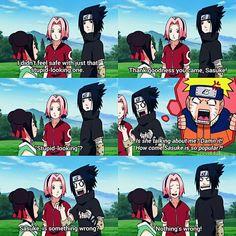 Aww poor Naruto bae ❤ but just look at 'Sasuke's' face XD