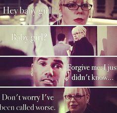Babygirl- Derek Morgan and Penelope Garcia! Criminal Minds- Shemar Moore and Kirsten Vangess.