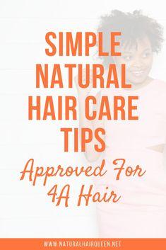 Simple Natural Hair Care Tips for Hair Natural Hair Types, Natural Hair Care Tips, Natural Hair Growth, Natural Curls, Hair Hacks, Hair Tips, 4a Hair, Afro Hair, Natural Hair Moisturizer