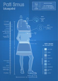 Blueprint Self-portrait by Pati Smus, via Behance
