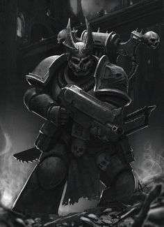 The Night Lords were originally the VIII Legion of Space Marines created during the First Founding and became one of the 9 Traitor Legions of Chaos Space Marines that betrayed the Emperor of Mankind during the Horus Heresy of the 31st Millennium. They do not worship any of the four Chaos Gods individually, but acknowledge them equally in the form of Chaos Undivided. The Night Lords are experts in the use of terror tactics to win battles and demoralise their foes.