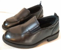 Boys Black George DENNIS Dress Loafers Slip-on Shoes Size 9 #George #Loafers