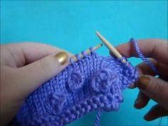 (Knob Stitch) - Embossed Patterns - Free Knitting Patterns Tutorial - Watch Knitting - pattern 10 - YouTube