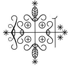 Symbol of Legba; gatekeeper to the spirit world, guardian of the crossroads in Hatian voodoo.