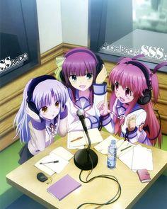 Kanade/Angel, Yuri, and Yui - Angel Beats! Manga Anime, Anime Couples Manga, Sad Anime, Cute Anime Couples, I Love Anime, Awesome Anime, Manga Girl, Anime Girls, Anime Art