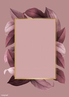 Hintergrund gold Golden frame on a pink leafy background vector Framed Wallpaper, Flower Wallpaper, Screen Wallpaper, Iphone Wallpaper, Golden Wallpaper, Black Wallpaper, Photo Pour Instagram, Instagram Frame, Story Instagram