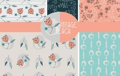 Vintage Peach collection by Jane Farnham