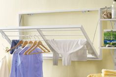 DIY Wall clothes drying/hanging rack