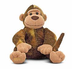 Children Toddler Baby Kids Brown Mischief Monkey Teddy Bear Stuffed Animal Toy