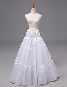 Slips A-Line Slip Floor-length 3 Nylon/Organza White. Get awesome discounts up to 70% Off at Light in the Box using Coupons.