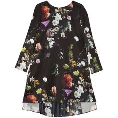 ADAM LIPPES Floral Tunic Dress ($650) ❤ liked on Polyvore featuring dresses, tunics, frilly dress, floral ruffle dress, floral print dress, pleated dress and multi colored dress