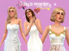 In a bad romance: 3 wedding inspired dresses • Sims 4 Downloads