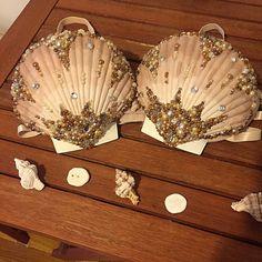Sujetador de sirena perla natural hecho por ElectricMermaiDesign